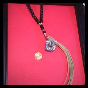 Torrid Bead and Geode Necklace